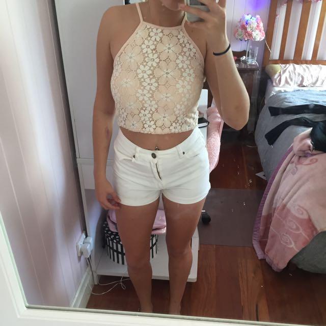 Boo Hoo Lace Crop