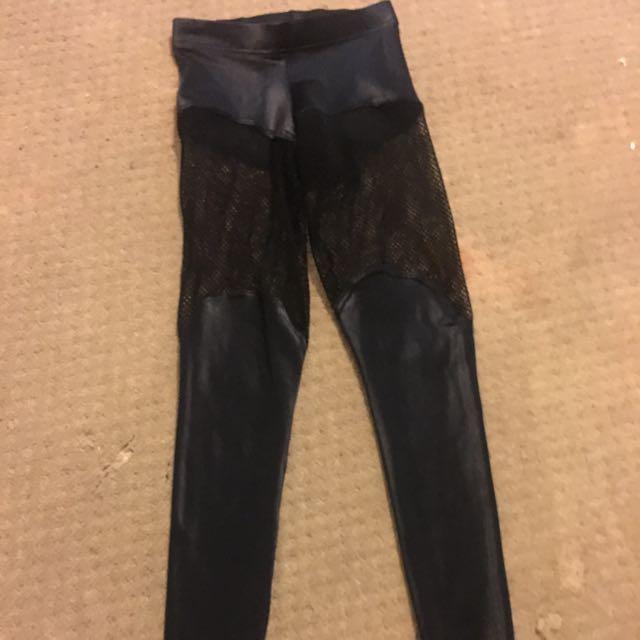 BRAND NEW Black milk Fishnet/Faux leather Leggings
