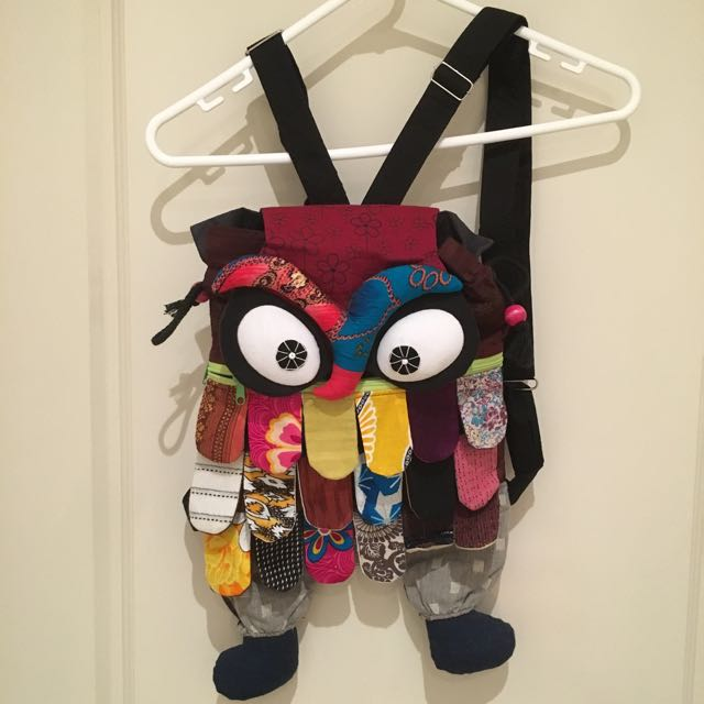 Colourful Owl backpack