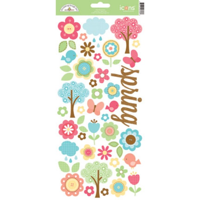 #1212 Flower Box Cardstock Stickers