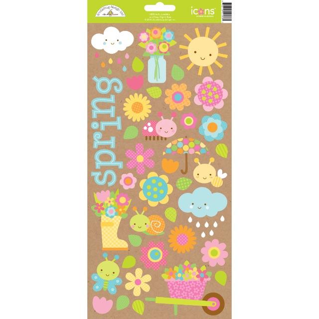 #1212 Hello Sunshine Cardstock Stickers