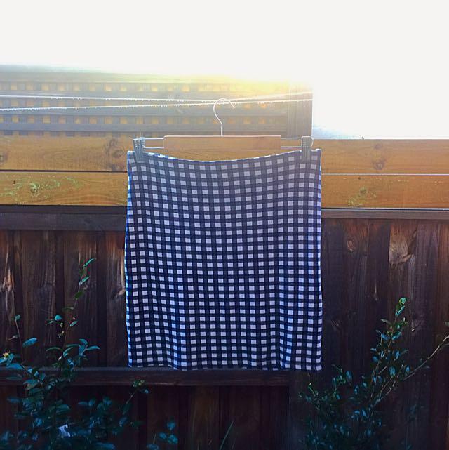 H&M Bodycon Skirt (Blue)