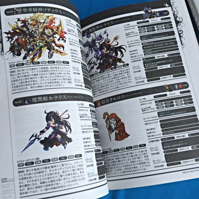 Japanese iOS Game Brave Frontier Game Guide Book Set