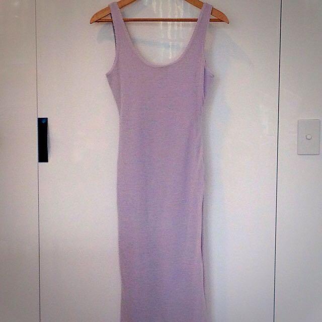 Light Grey Kookai Body-Con Knit Dress