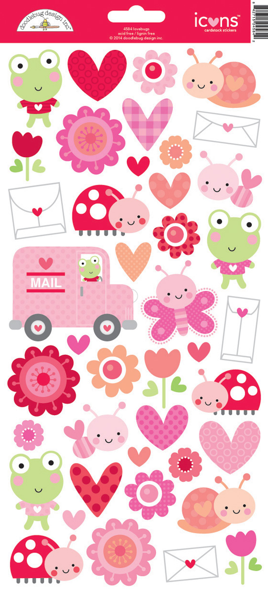 #1212 Lovebugs Cardstock Stickers