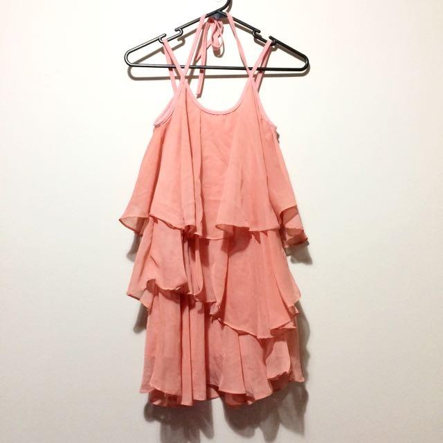 Maxim Peach Layered Dress