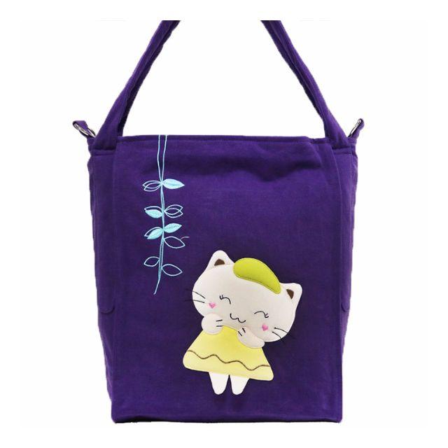 【賠售】Melecat咪樂貓開心畫家斜背肩背兩用包