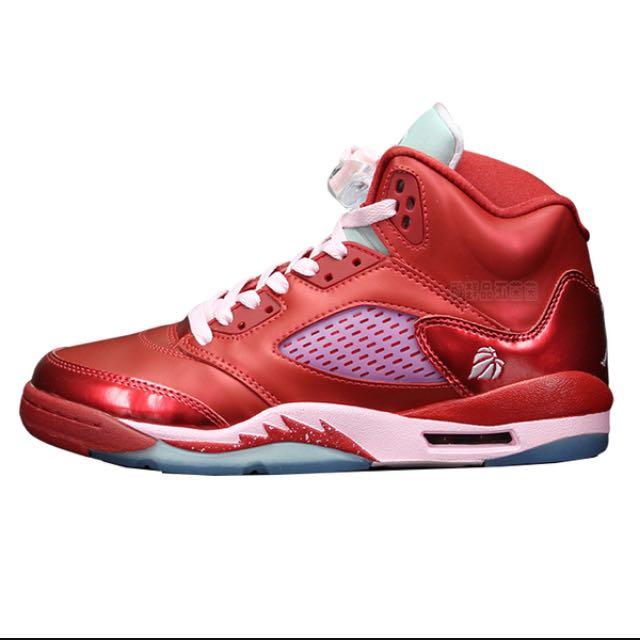 Nike  Air Jordan 5代 情人節配色