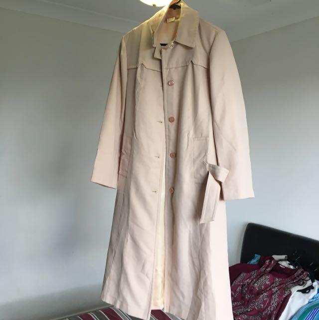 Nude Long Dress Coat