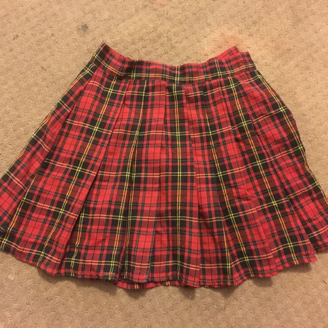 O MIGHTY Tennis Skirt Plaid Red