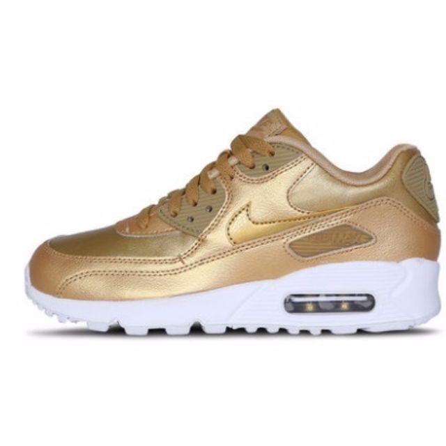 PO) Nike Air Max 90 GS Metallic GoldLight Rose gold