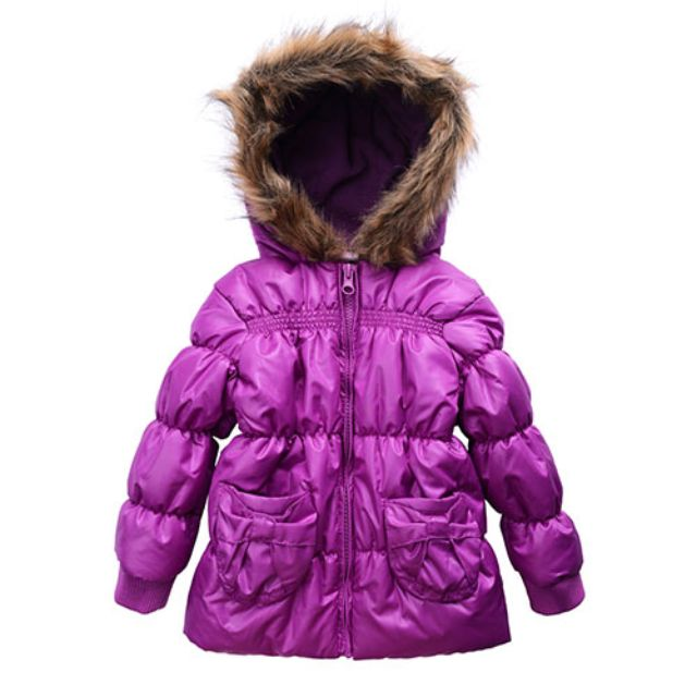 Size 2 Girls Puf Jacket with Hoodie for Winter Boutique Range