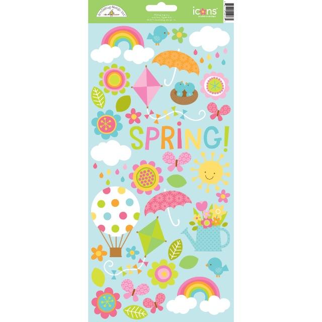 #1212 Springtime Cardstock Stickers
