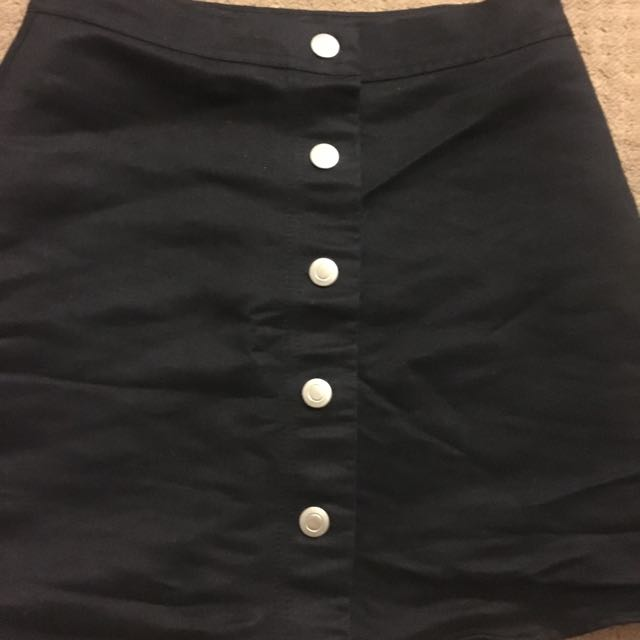 Supre Button Up Suede Skirt