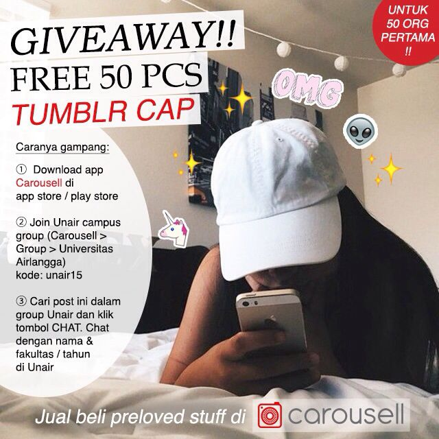 GIVEAWAY TUMBLR CAP FOR FREE!!!
