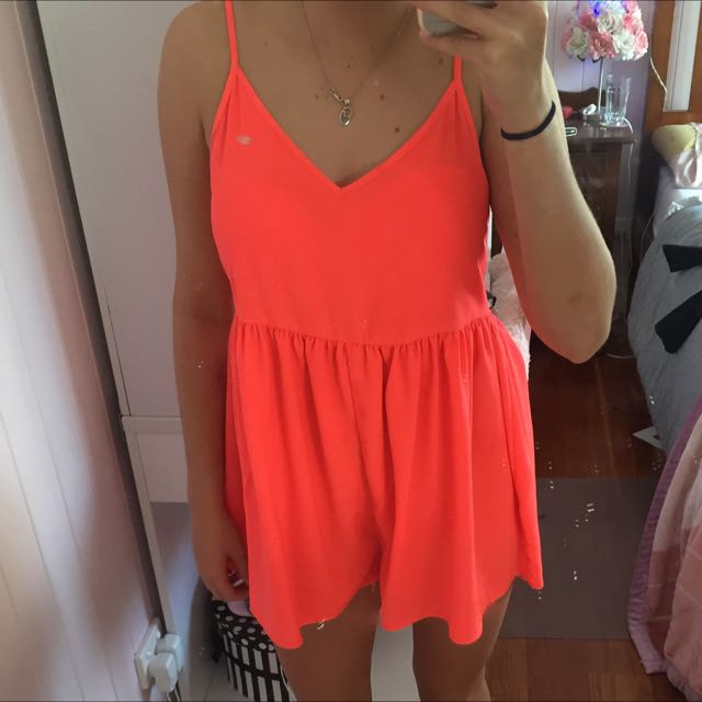 Valley Girl, Fluro Playsuit
