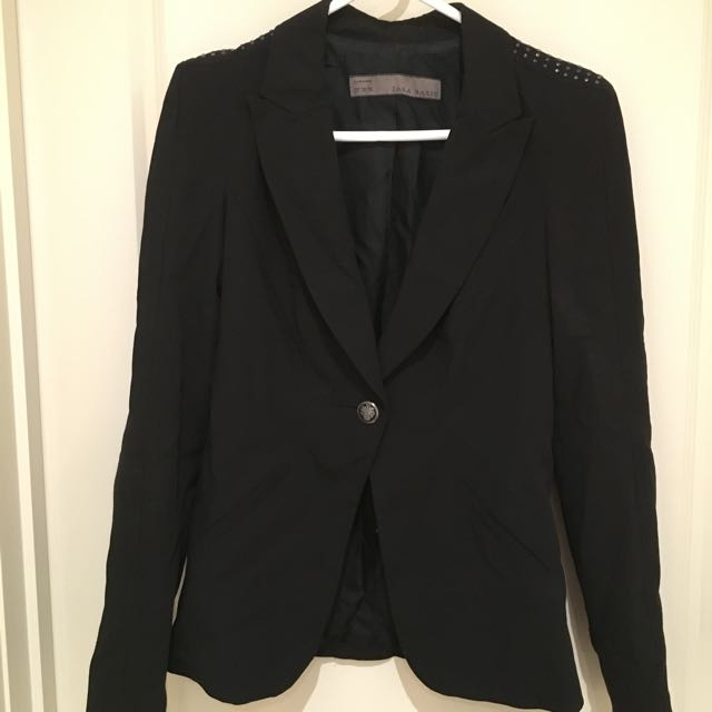 Zara Blazer with Studded Shoulder
