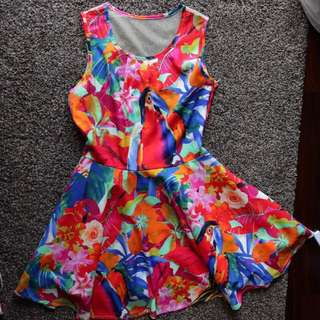 (free 📬) Rainbow flare dress