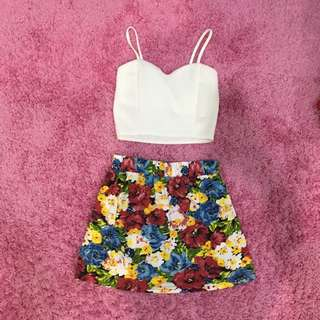 💰Tropical Floral Skirt