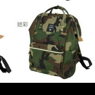 售此款 日本 Anello 迷彩 小 後背包