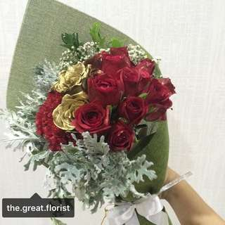 Roses and Carnation Bouquet