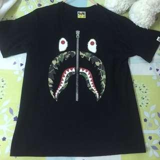 Bape 黑鯊魚短踢 M
