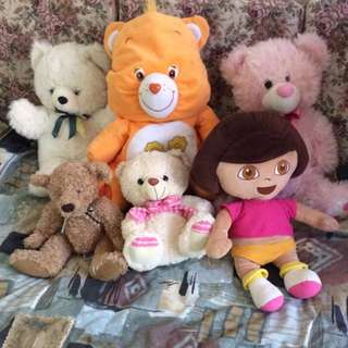 6x Stuff Toys Great Conditions. 27-48cm Tall
