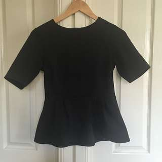 ASOS Black Peplum Top