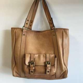 Genuine Massimo Dutti Brown Leather Handbag