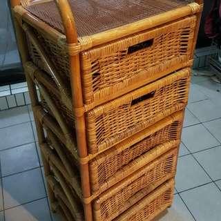 鄉村風竹籐櫃