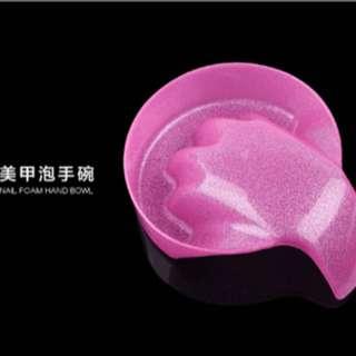 🚚 閃粉泡手碗 卸甲碗 手部護理泡指甲碗 洗指甲水容器 美甲用品