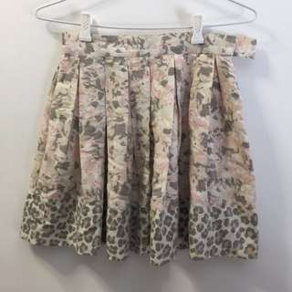 Camilla And Marc Floral And Leopard Print Skirt