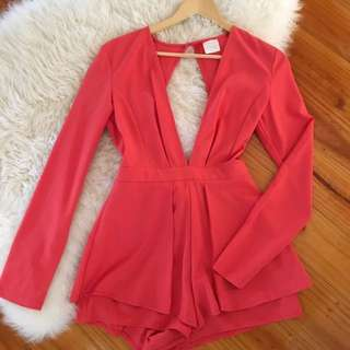 Loving Things - Coral Playsuit