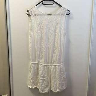 Zara White Lace Playsuit