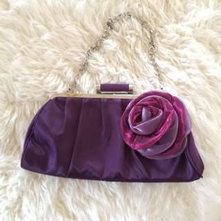 Purple Hand Bag/Clutch