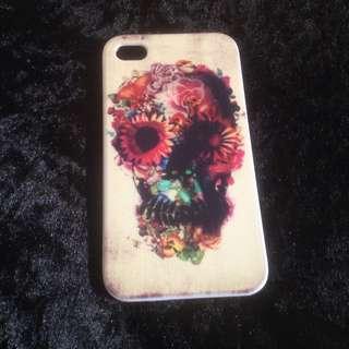 Floral Skull iPhone 4 Case