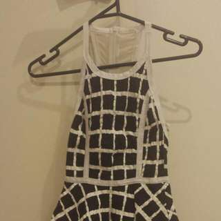 *REDUCED* Reverse Fitted Peplum Dress