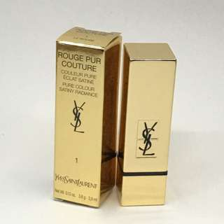 YSL 💄原價$295 Rouge Pur Couture pure colour satiny radiance lipstick #1 Le Rouge