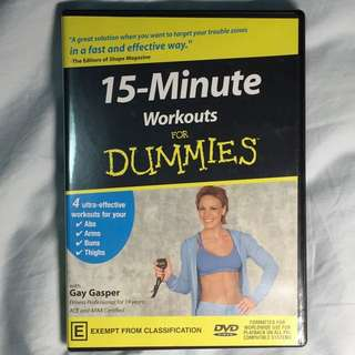 Exercise DVD - 15 Minutes Workouts For Dummies