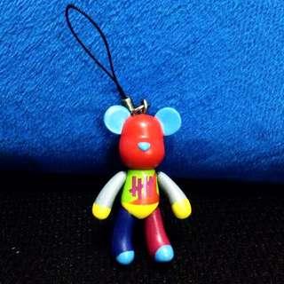 beartrick 100% 彩色熊 鎖鑰扣 電話繩