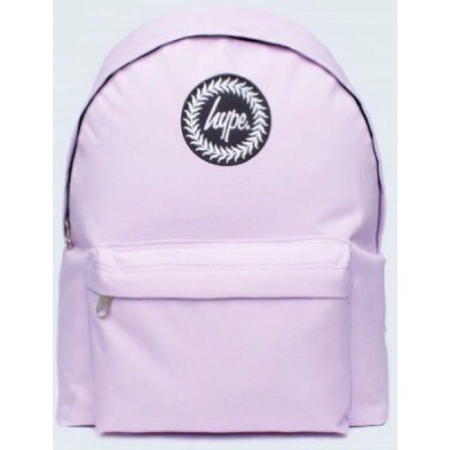 【預購】Hype🇬🇧素面粉紫後背包