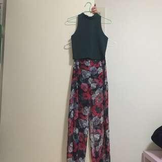 Topshop top+long Flower Print Skirt