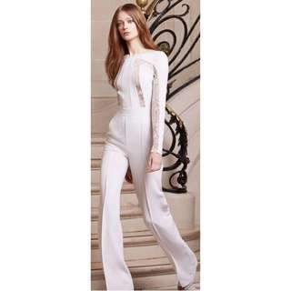 Reserved: White Lace Jumpsuit