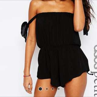 NEW - Black Playsuit Size 8
