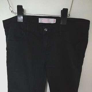 Giordano黑色牛仔直桶褲