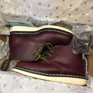 8.5成新💥 Dr.Martens 馬丁大夫 MANTON 深咖啡色 UK 4 EU37 免運費 全皮革 沙漠靴 短靴 兩孔靴 絕版品 已送洗✨