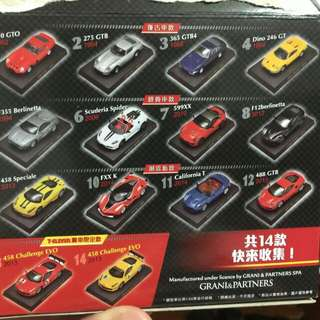 7-11法拉利九么么模型車5號交換1,2,3,7號。杜卡迪機車6號交換3,4號或售出