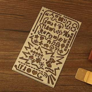 創意鏤空不鏽鋼塗鴉繪手帳模板 攜帶型
