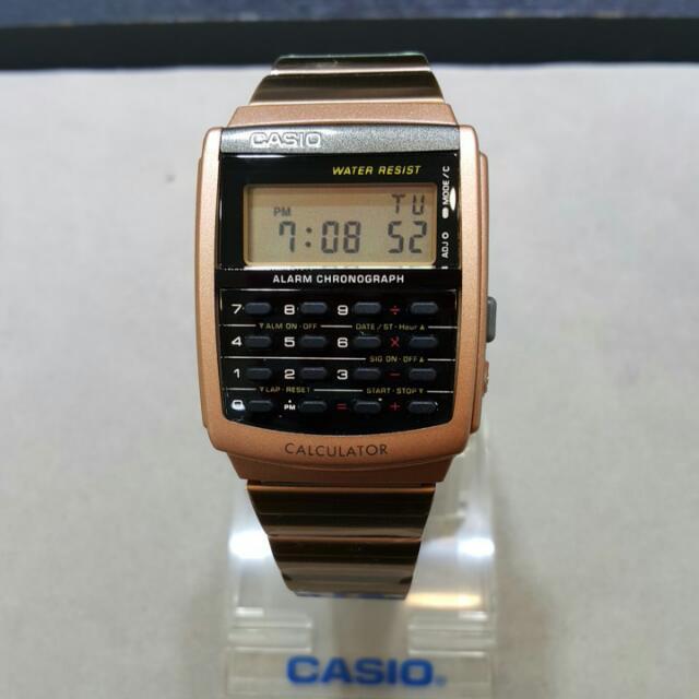 最新款卡西歐手錶,有玫瑰金,金色,黑色3種選擇