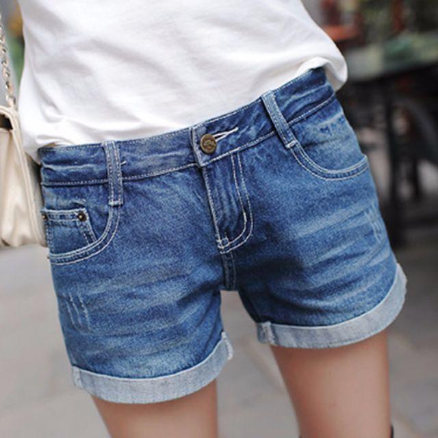 中腰牛仔短褲